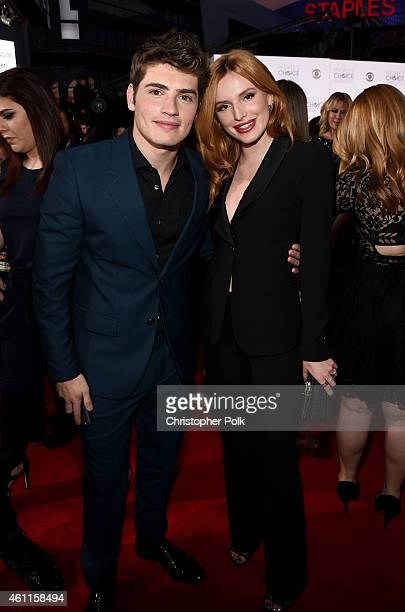 Actors Gregg Sulkin and Bella Thorne attend The 41st Annual People's Choice Awards at Nokia Theatre LA Live on January 7 2015 in Los Angeles...