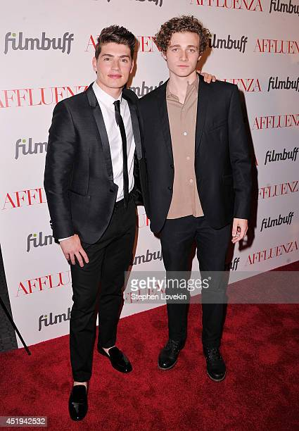 Actors Gregg Sulkin and Ben Rosenfield attend the Affluenza premiere at SVA Theater on July 9 2014 in New York City