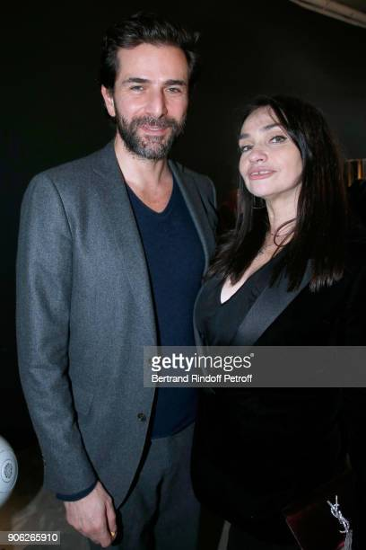 ACtors Gregory Fitoussi and Beatrice Dalle attend the 'YSL Beauty Hotel' event during Paris Fashion Week Menswear Fall/Winter 20182019 on January 17...