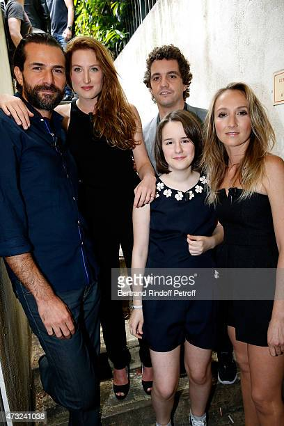 Actors Gregory Fitoussi daughter of Main Guest of the show Charlotte de Turckheim Julia Piaton Anna Lemarchand Bruno Sanches and Audrey lamy present...