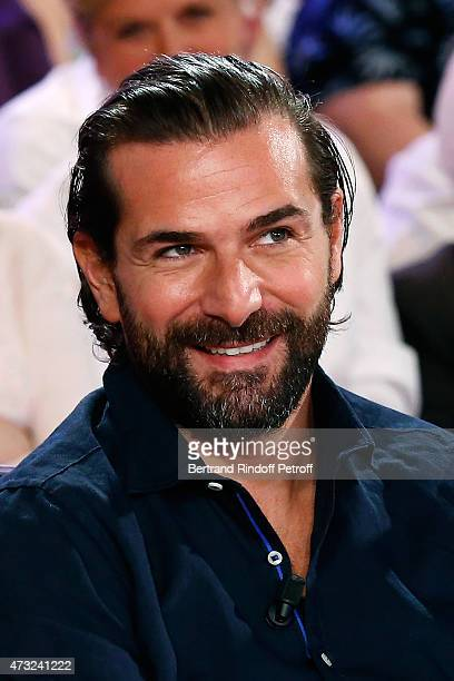 Actors Gregory Fitoussi presents the movie 'Qui c'est les plus forts ' during the 'Vivement Dimanche' French TV Show at Pavillon Gabriel on May 13...