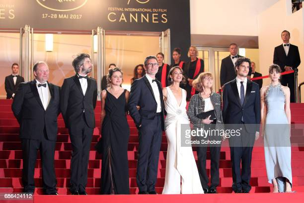 Actors Gregory Gadebois Misha Lescot producer Florence Gastaud director Michel Hazanavicius actors Berenice Bejo Anne Wiazemsky Louis Garrel and...
