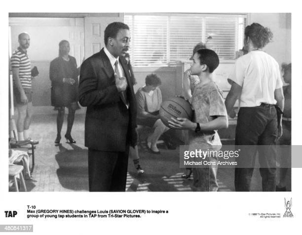 Actors Gregory Hines and Savion Glover in a scene from the movie Tap circa 1989