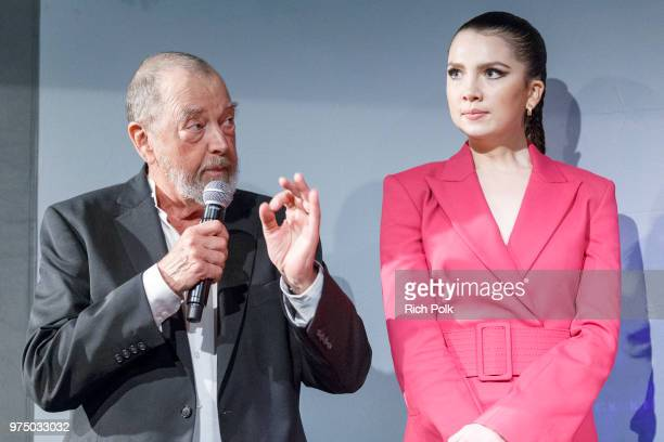 Actors Gregory Itzin and Maya Henry on stage at an event where Flaunt Presents a private screening of Eva Dolezalova's 'Carte Blanche' at Hollywood...