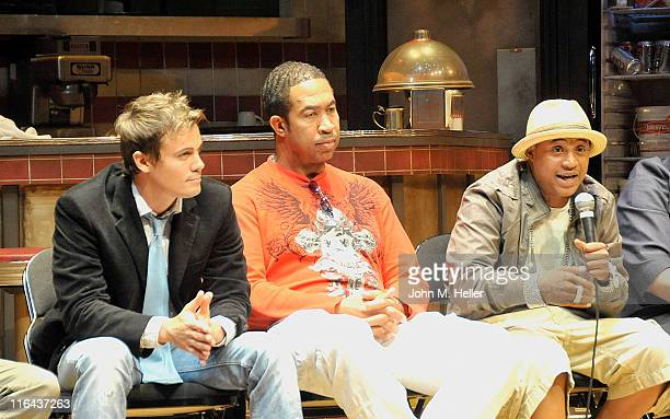 Actors Gregory Michael John Marshall Jones and Orlando Brown attend the 1st Annual Cynthia Stafford's Gifted Day At The Geffen Playhouse on June 15...