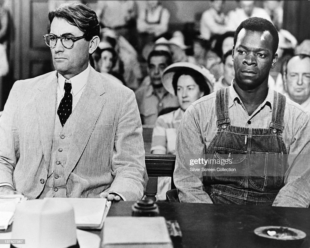 Actors Gregory Peck as Atticus Finch and Brock Peters as Tom Robinson in the film 'To Kill a Mockingbird', 1962.