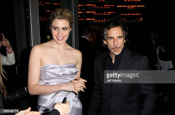 Actors Greta Gerwig and Ben Stiller arrive at the premiere of Greenberg presented by Focus Features at ArcLight Hollywood on March 18 2010 in...