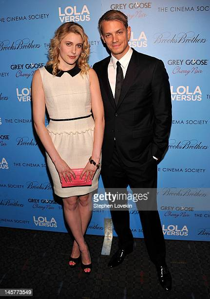 Actors Greta Gerwig and Joel Kinnamon attend The Cinema Society Fox Searchlight With Groundswell Productions Screening Of 'Lola Versus' at SVA...