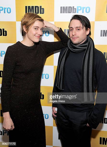 Actors Greta Gerwig and Kieran Culkin in The IMDb Studio In Park City Utah Day One Park City on January 22 2016 in Park City Utah
