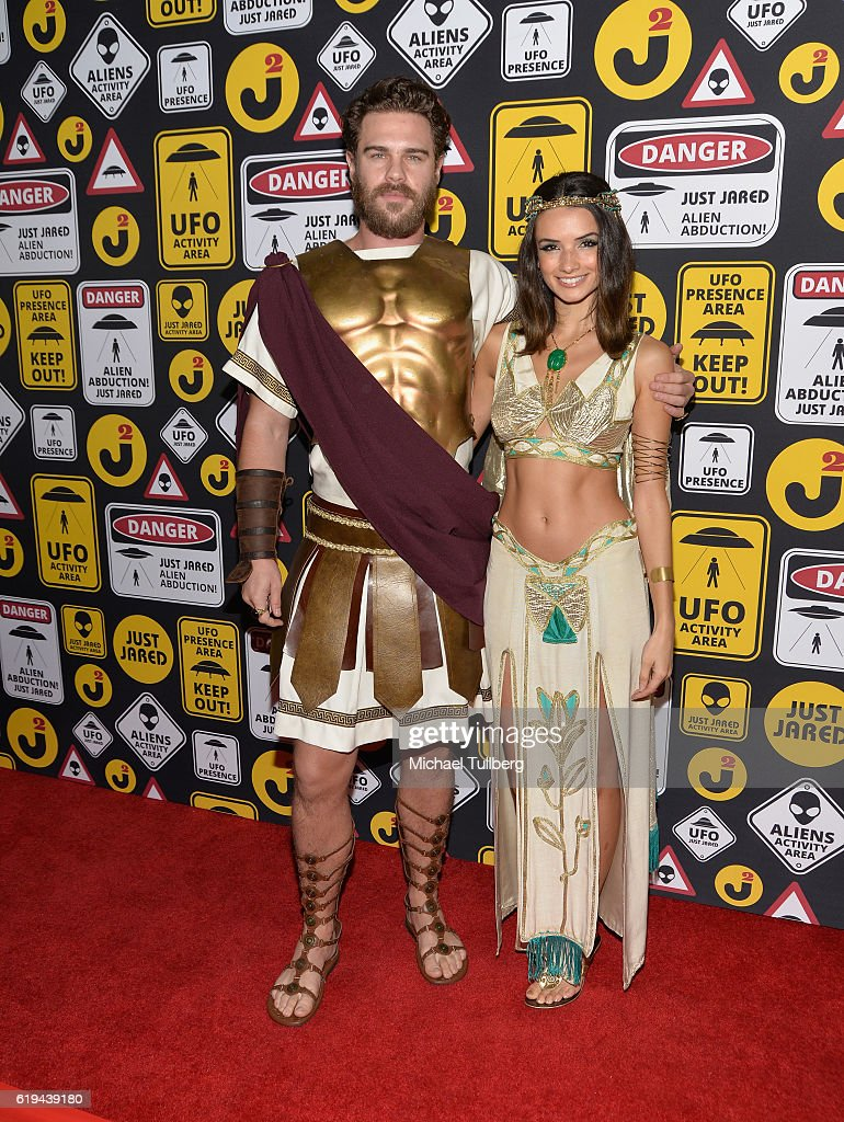 Actors Grey Damon and Alice Greczyn attends Just Jared's Annual Halloween Party at Tenants of the Trees on October 30, 2016 in Los Angeles, California.