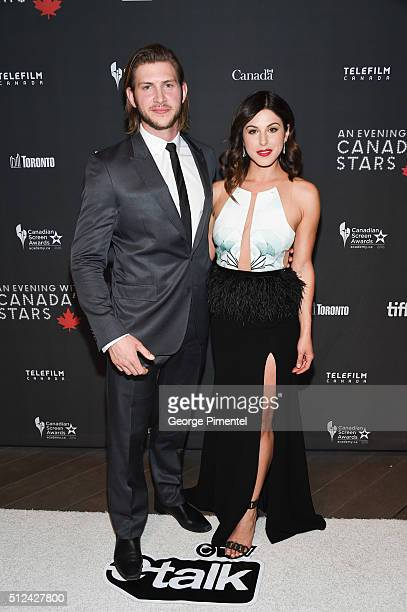 Actors Greyston Holt and Cristina Rosato attend the 3rd Annual An Evening With Canada's Stars at Four Seasons Hotel Los Angeles at Beverly Hills on...