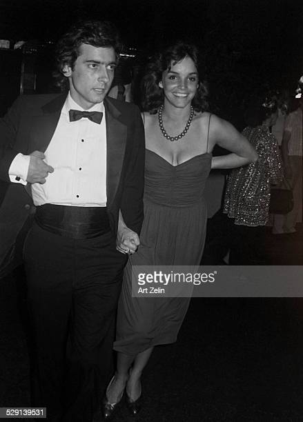 Actors Griffin Dunne and Brooke Adams attend an unspecified event New York 1980s