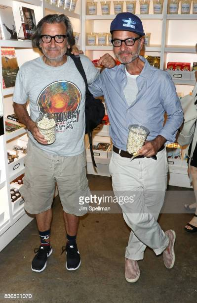 Actors Griffin Dunne and Fisher Stevens attend the 'Dolores' New York premiere at The Metrograph on August 21 2017 in New York City