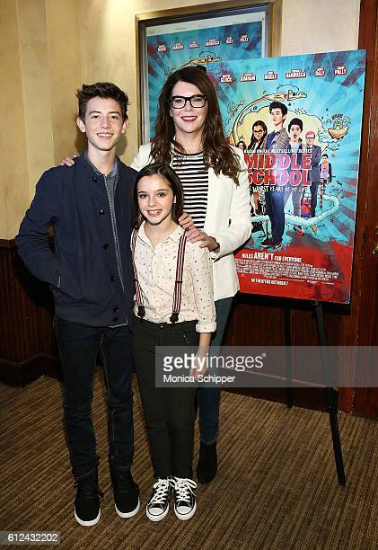 Actors Griffin Gluck Alexa Nisenson and Lauren Graham attend 'Middle School The Worst Years of My Life' Mamarazzi Screening at Tribeca Screening Room...