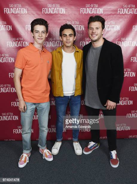 Actors Griffin Gluck Tyler Alvarez and Jimmy Tatro attend the SAGAFTRA Foundation Conversations screening of American Vandal at the SAGAFTRA...