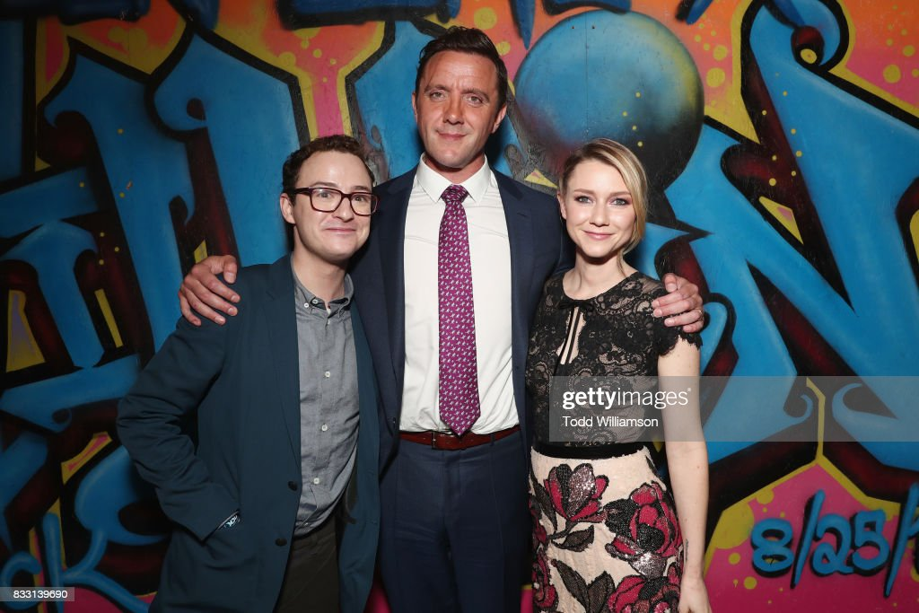 Actors Griffin Newman, Peter Serafinowicz and Valorie Curry attend the blue carpet premiere of Amazon Prime Video original series 'The Tick' at Village East Cinema on August 16, 2017 in New York City.