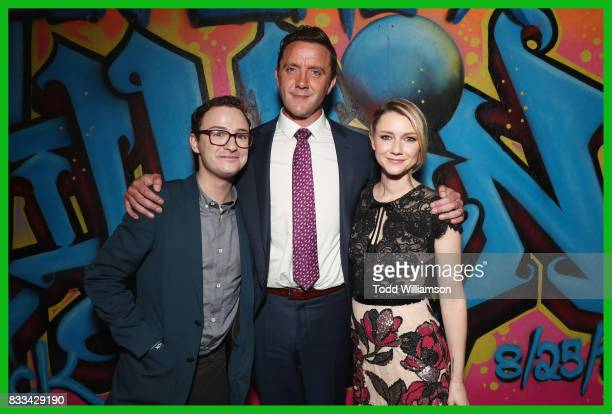 Actors Griffin Newman Peter Serafinowicz and Valorie Curry attend the blue carpet premiere of Amazon Prime Video original series 'The Tick' at...