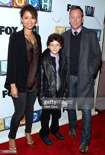 Actors Gugu MbathRaw David Mazouz and Kiefer Sutherland attend the 'Touch' Special Screening and Panel held at the Leonard H Goldenson Theatre at the...
