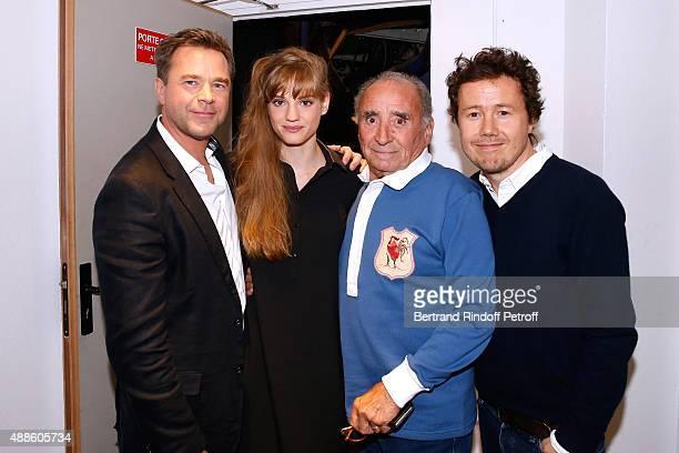 Actors Guillaume de Tonquedec Noemie Schmidt Claude Brasseur and Director of the movie Ivan Calberac present the movie L'etudiante et Monsieur Henri'...