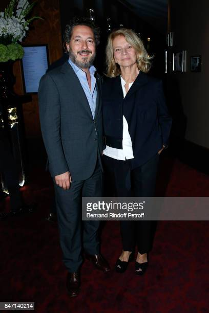 Actors Guillaume Gallienne and Nicole Garcia attend the Reopening of the Hotel Barriere Le Fouquet's Paris decorated by Jacques Garcia at Hotel...