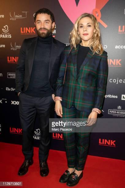 Actors Guillaume Gouix and Alysson Paradis attend the 'Par Amour' charity gala at Mairie de Paris on February 14 2019 in Paris France