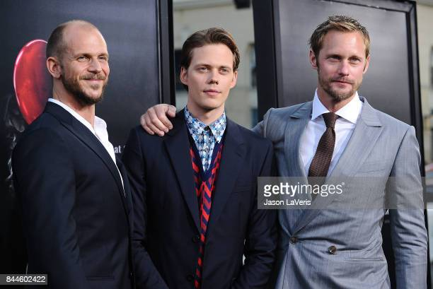 Actors Gustaf Skarsgard Bill Skarsgard and Alexander Skarsgard attend the premiere of It at TCL Chinese Theatre on September 5 2017 in Hollywood...
