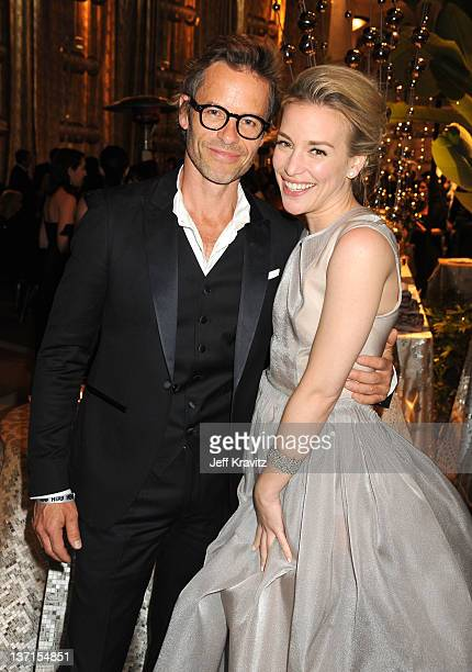 Actors Guy Pearce and Piper Perabo attend HBO's Official After Party for the 69th Annual Golden Globe Awards held at The Beverly Hilton hotel on...