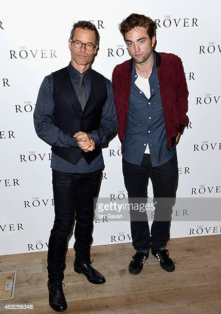 Actors Guy Pearce and Robert Pattinson attend The Rover photocall and screening with Q A at the BFI Southbank on August 6 2014 in London England