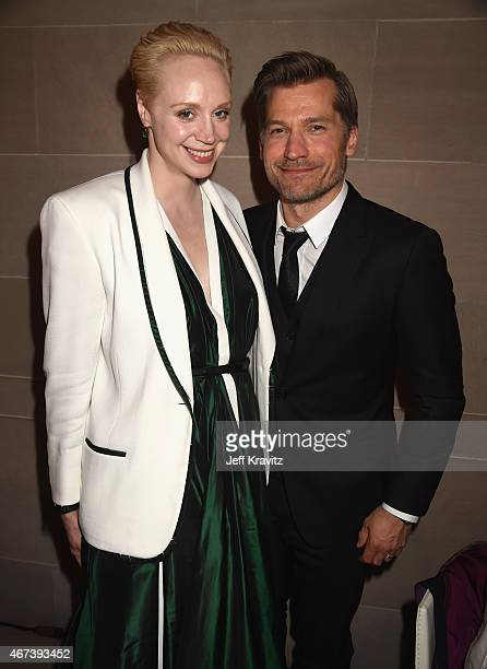 Actors Gwendoline Christie and Nikolaj CosterWaldau attend HBO's 'Game of Thrones' Season 5 Premiere and After Party at the San Francisco Opera House...