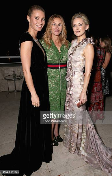 Actors Gwyneth Paltrow Julia Roberts and Kate Hudson attend the InStyle Awards at Getty Center on October 26 2015 in Los Angeles California