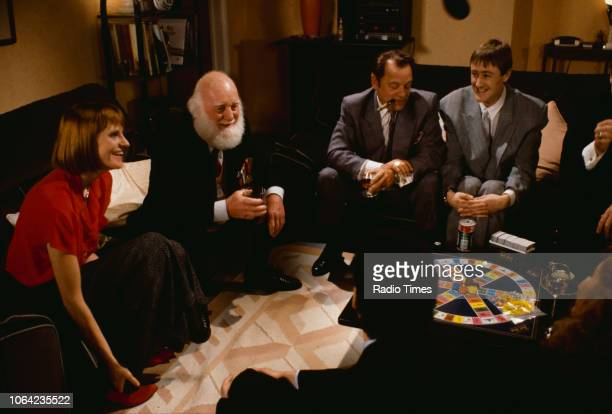 Actors Gwyneth Strong Buster Merryfield David Jason and Nicholas Lyndhurst pictured on the set of episode 'The Jolly Boys Outing' of the BBC...