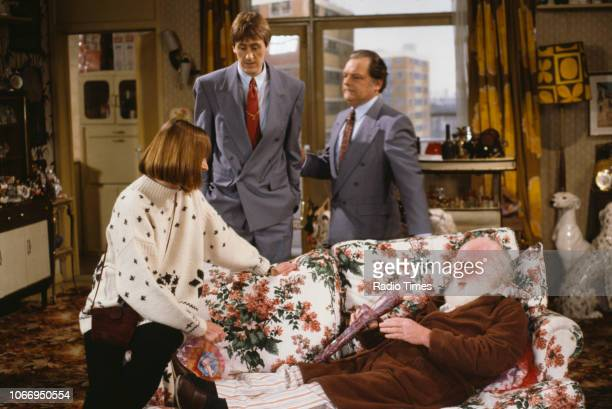 Actors Gwyneth Strong Nicholas Lyndhurst David Jason and Buster Merryfield in a scene from episode 'He Ain't Heavy He's My Uncle' of the BBC...