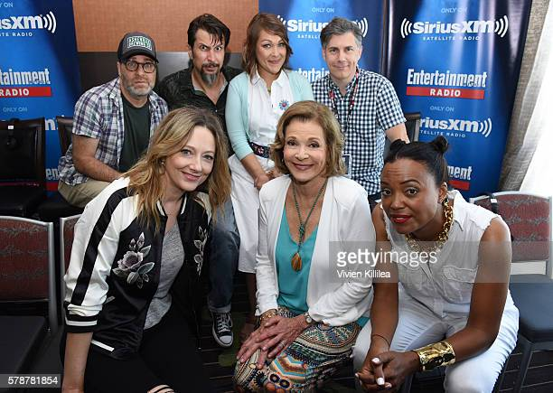 Actors H Jon Benjamin Lucky Yates Amber Nash Chris Parnell Judy Greer Jessica Walter Aisha Tyler and Amber Nash attend SiriusXM's Entertainment...