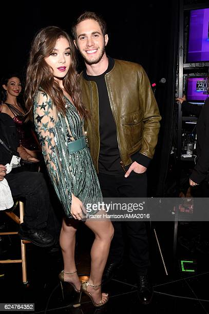 Actors Hailee Steinfeld and Blake Jenner attends the 2016 American Music Awards at Microsoft Theater on November 20 2016 in Los Angeles California