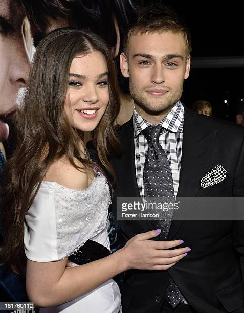 Actors Hailee Steinfeld and Douglas Booth arrive at the premiere of Relativity Media's Romeo And Juliet at ArcLight Cinemas on September 24 2013 in...
