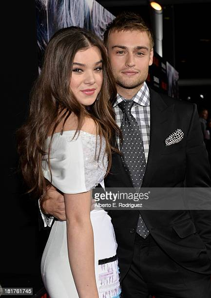 Actors Hailee Steinfeld and Douglas Booth arrive at the premiere of Relativity Media's Romeo Juliet at ArcLight Hollywood on September 24 2013 in...