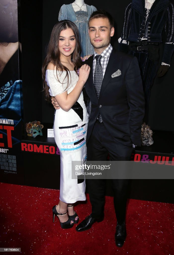 Actors Hailee Steinfeld (L) and Douglas Booth attend the premiere of Relativity Media's 'Romeo & Juliet' at ArcLight Hollywood on September 24, 2013 in Hollywood, California.
