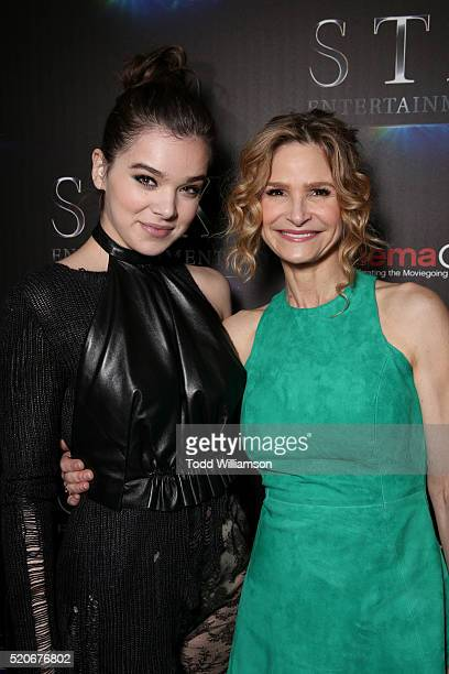 Actors Hailee Steinfeld and Kyra Sedgwick attends CinemaCon 2016 The State of the Industry Past Present and Future and STX Entertainment Presentation...