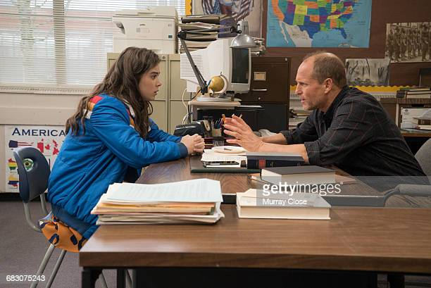 Actors Hailee Steinfeld and Woody Harrelson in a scene from the film 'The Edge of Seventeen' 2016