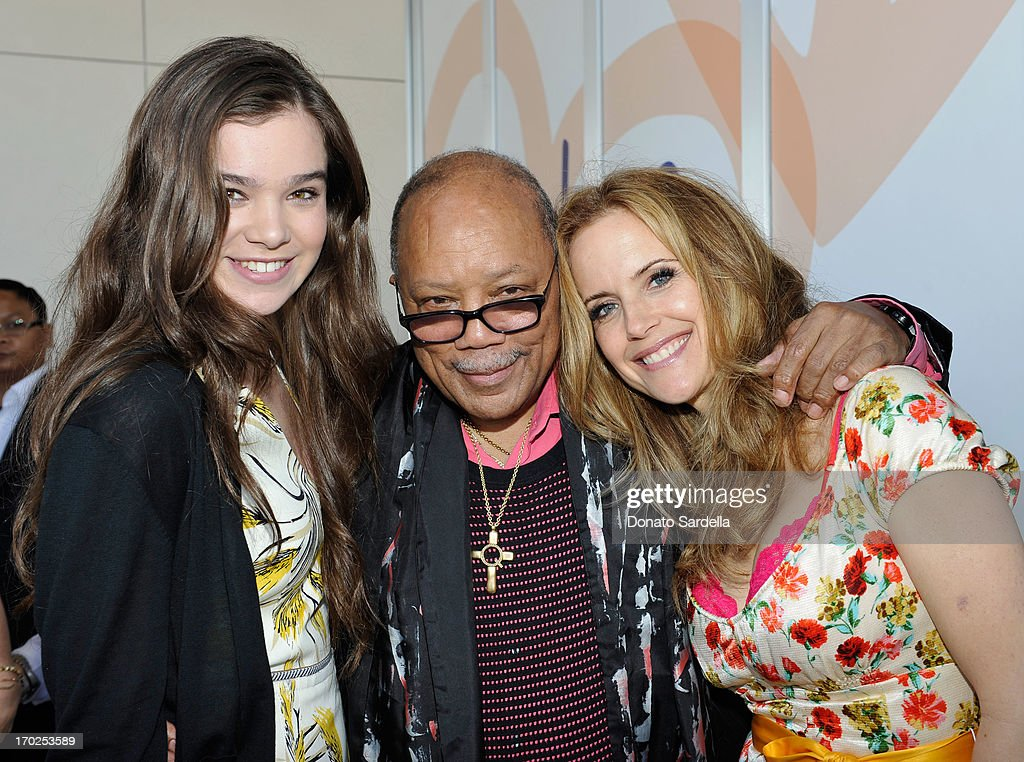 Actors Hailee Steinfeld, Lifetime Achievement Award recepient Quincy Jones and Kelly Preston attend the 1st Annual Children Mending Hearts Style Sunday on June 9, 2013 in Beverly Hills, California.