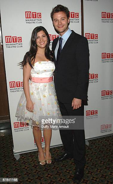 Actors Hailey Carducci and Matthew Hydzik attend the 2009 Manhattan Theatre Club's spring gala at Cipriani 42nd Street on May 18 2009 in New York City