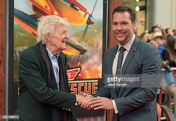 Actors Hal Holbrook and Dane Cook attend the premiere of Disney's Planes Fire Rescue at the El Capitan Theatre on July 15 2014 in Hollywood California