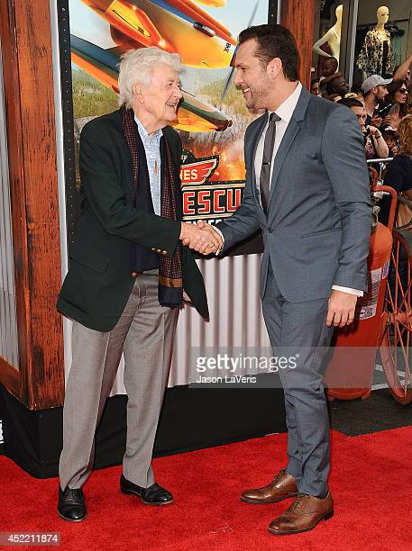 Actors Hal Holbrook and Dane Cook attend the premiere of 'Planes Fire Rescue' at the El Capitan Theatre on July 15 2014 in Hollywood California