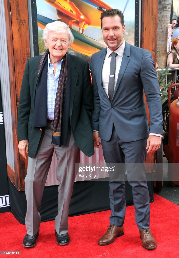 Actors Hal Holbrook and Dane Cook attend the premiere of 'Planes: Fire & Rescue' on July 15, 2014 at the El Capitan Theatre in Hollywood, California.