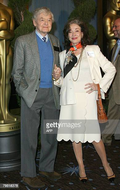 Actors Hal Holbrook and Dixie Carter arrive for the annual Academy nominees luncheon February 04 2008 at the Beverly Hilton Hotel in Beverly Hills...