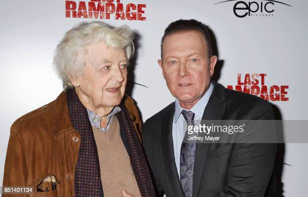 Actors Hal Holbrook and Robert Partrick attend the Premiere Of Epic Pictures Releasings' 'Last Rampage' at ArcLight Cinemas on September 21 2017 in...