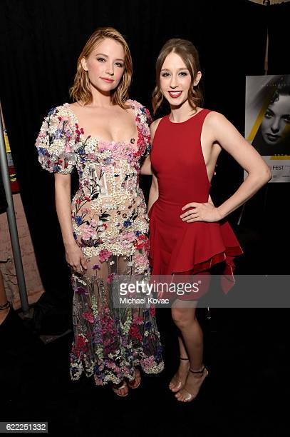 Actors Haley Bennett and Taissa Farmiga attend the premiere of 'Rules Don't Apply' at AFI Fest 2016 presented by Audi at TCL Chinese Theatre on...