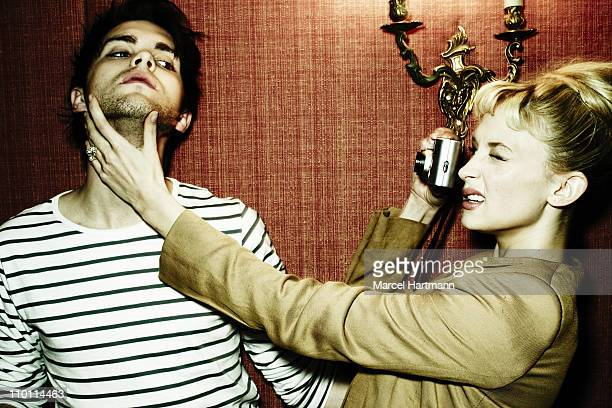 Actors Haley Bennett and Thomas Dekker pose at a portrait session in May 2010 in Paris Unpublished image