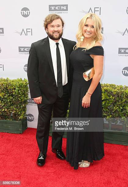 Actors Haley Joel Osment and Emily Osment arrive at the American Film Institute's 44th Life Achievement Award Gala Tribute to John Williams at Dolby...