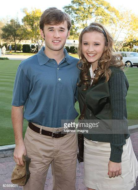 PACIFIC PALISADES CA FEBRUARY 10 **EXCLUSIVE** Actors Haley Joel Osment and Emily Osment arrives at the 10th Annual Michael Douglas Friends Celebrity...